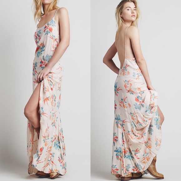 5d9d6e03816d3 Free People Dresses & Skirts - Free People Floral Star Chasing Slip Maxi  Dress S